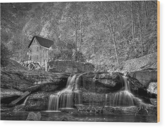 Glade Creek Grist Mill At Babcock Wood Print