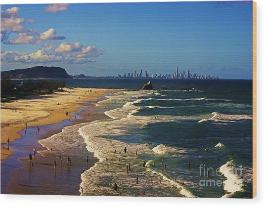 Gold Coast Beaches Wood Print