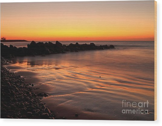 Gran Canaria Sunrise  Wood Print by Pete Reynolds