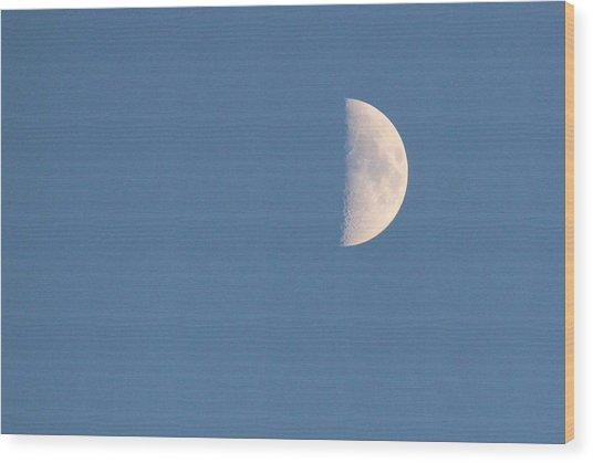 Half Moon Rising Wood Print