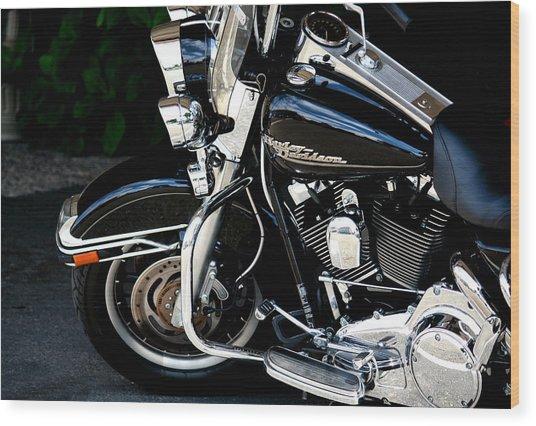 Harley Davidson  Wood Print by Karen Scovill