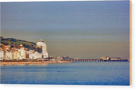Hastings Wood Print by Sharon Lisa Clarke