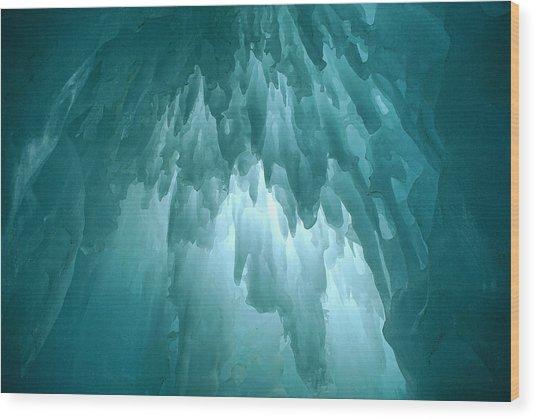 Ice Chandelier Wood Print