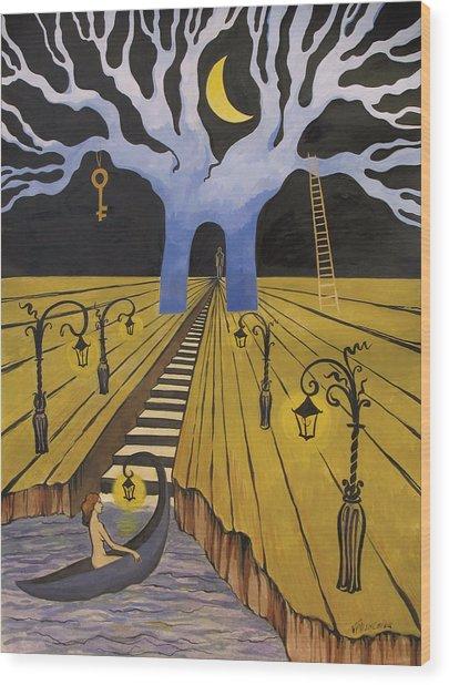 In The Maze Of Strange Dreams Wood Print