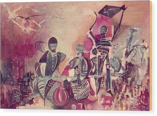 Indian Festival Wood Print by Satyajit Roy ArtDecor