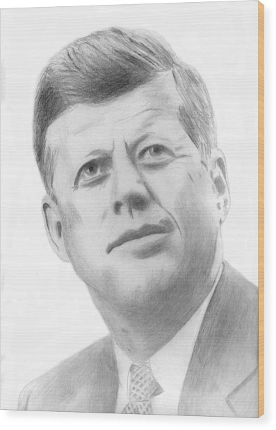 JFK Wood Print
