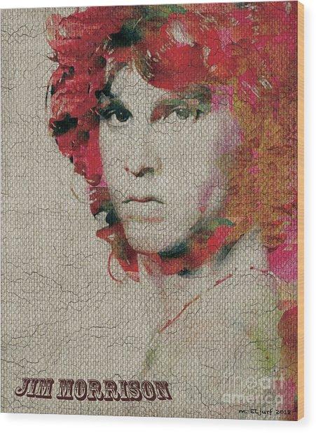 Jim Morrison Wood Print by Max Cooper