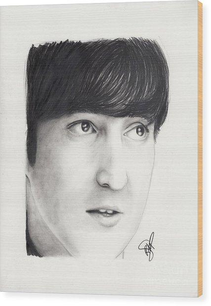 John Lennon Wood Print by Rosalinda Markle