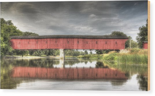 Kissing Bridge Montrose Ontario Canada Wood Print