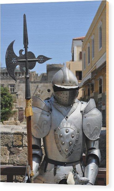 Knight Armor. Wood Print by Fernando Barozza