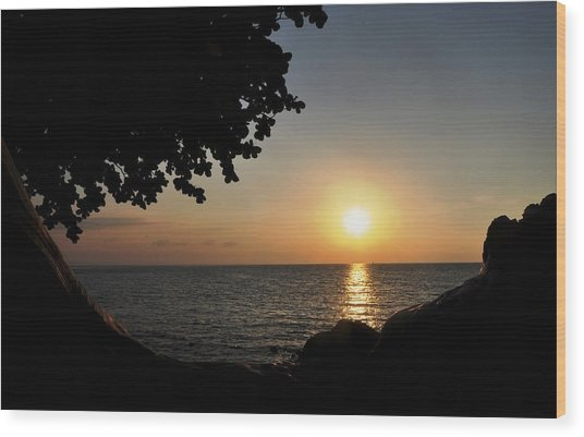 Kona Sunset II Wood Print by Danielle Del Prado