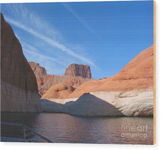 Lake Powell Shoreline Wood Print by Merton Allen