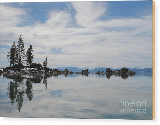 Lake Tahoe Nevada Wood Print