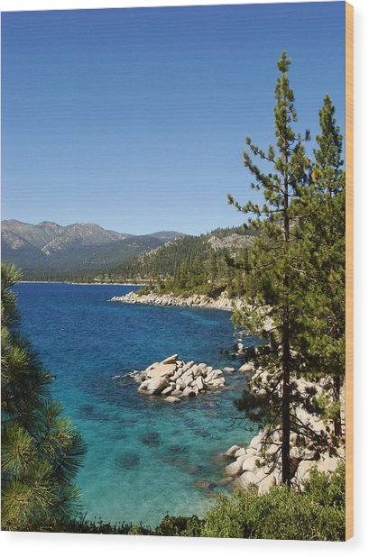 Lake Tahoe Shoreline Wood Print