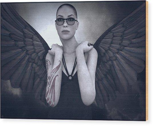 Libertine Angel Wood Print