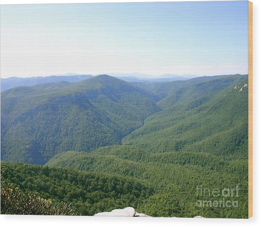 Linville Gorge Wood Print
