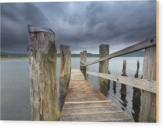Loch Etive Jetty Wood Print