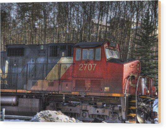 Locomotive Wood Print by Kim French
