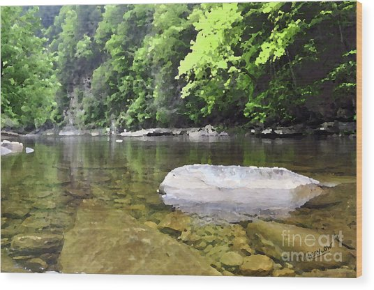 Loyalsock Creek Wood Print
