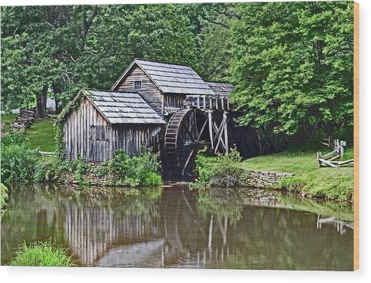 Mabry Grist Mill Wood Print