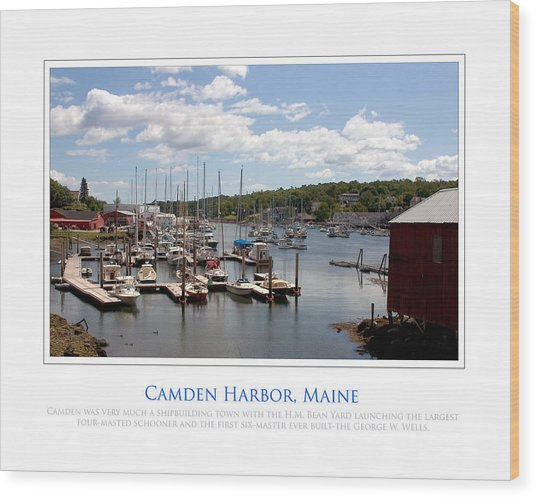 Maine Harbour Wood Print by Jim McDonald Photography