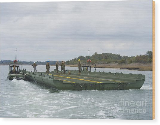 Marines And Sailors Tow An Improved Wood Print