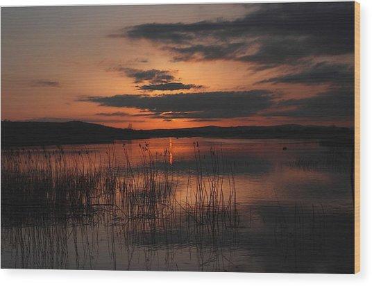 Menlo Sunset Wood Print