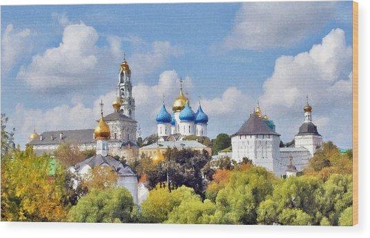Monastery Panorama  Wood Print by Aleksandr Volkov