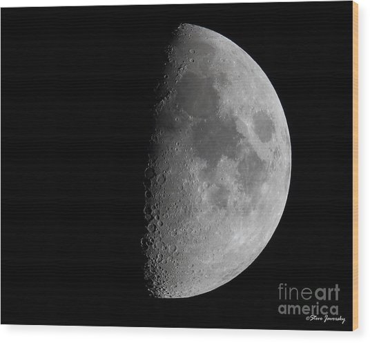 Moon Wood Print by Steve Javorsky