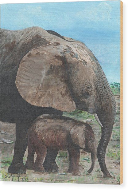 Mother Love Wood Print