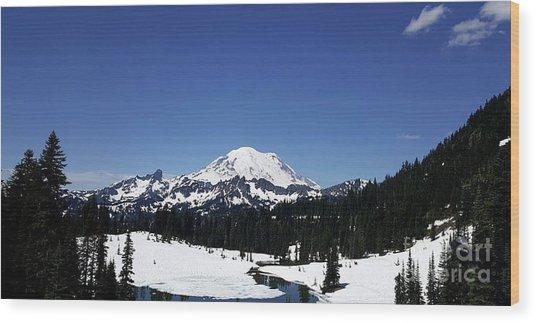 Mt Rainier Wood Print