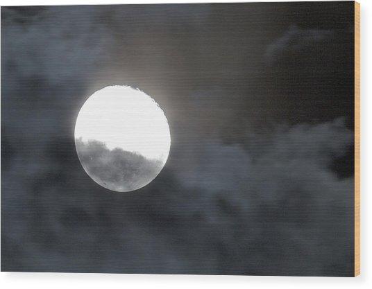 Mysterious Moon Wood Print