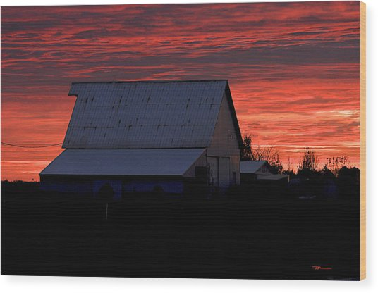 Near Kirklin Indiana Wood Print by Marsha Williamson Mohr