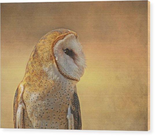 Nina Golden Wood Print