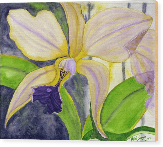 No Ordinary Orchid Wood Print