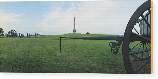 Ny Monument Antietam Wood Print by Jan W Faul