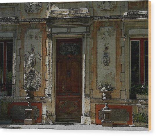 Old Entrance In Provence Wood Print