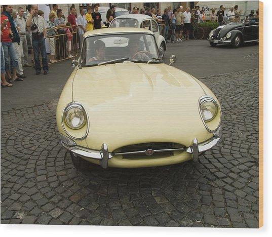 Old Jaguar Car Wood Print by Odon Czintos