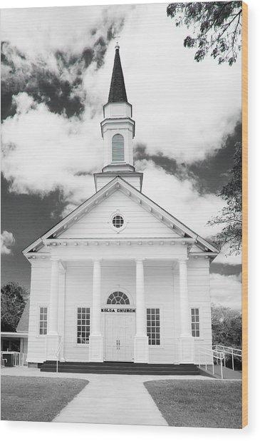 Old Koloa Church Wood Print