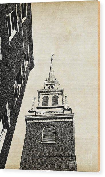 Old North Church In Boston Wood Print