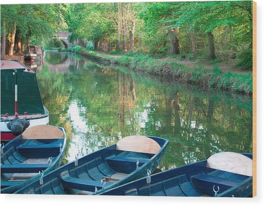 On The Canal Wood Print by Shirley Mitchell