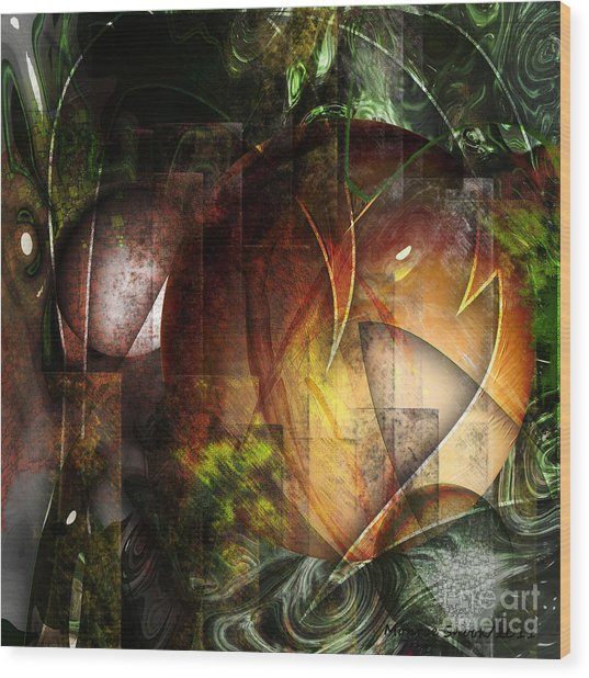 Other World Wood Print by Monroe Snook