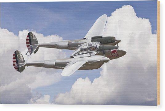 P-38 Lightning Wood Print