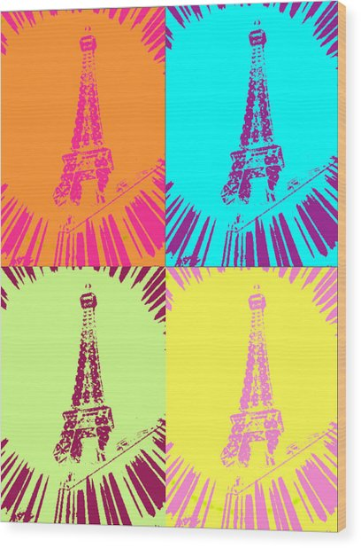 Paris In Vegas Wood Print by Amber Hennessey