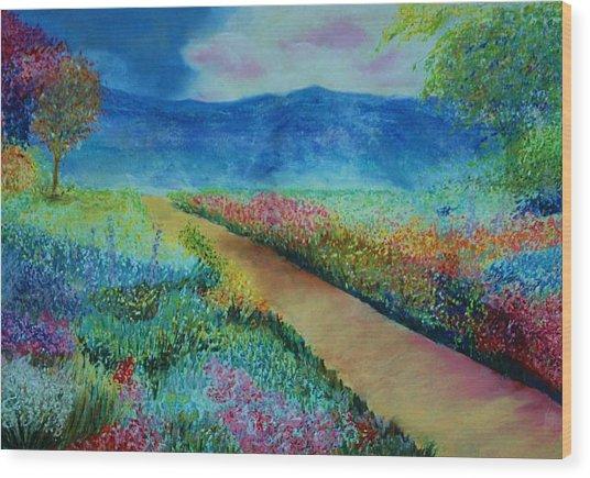 Patricia's Pathway Wood Print