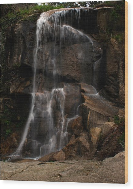 Peaceful Falls Wood Print
