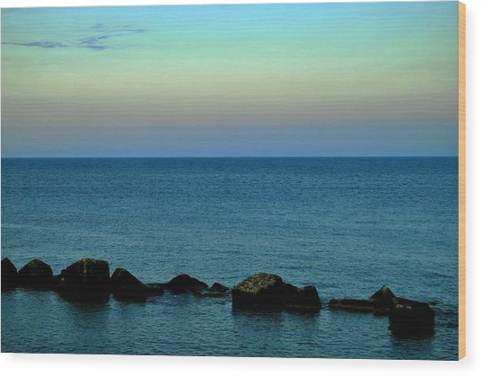 Playas De Noche Wood Print by Eire Cela