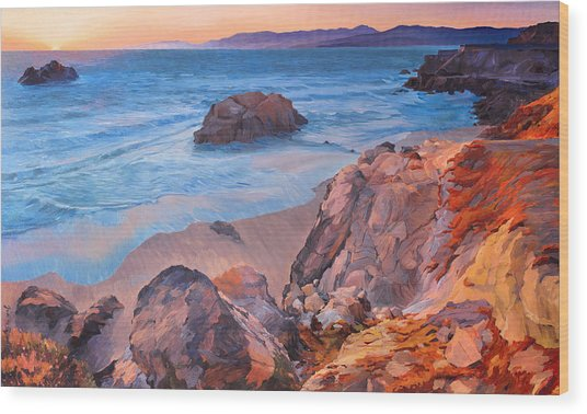 Point Lobos At San Francisco Wood Print