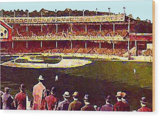 Polo Grounds In New York City 1920's Wood Print by Dwight Goss
