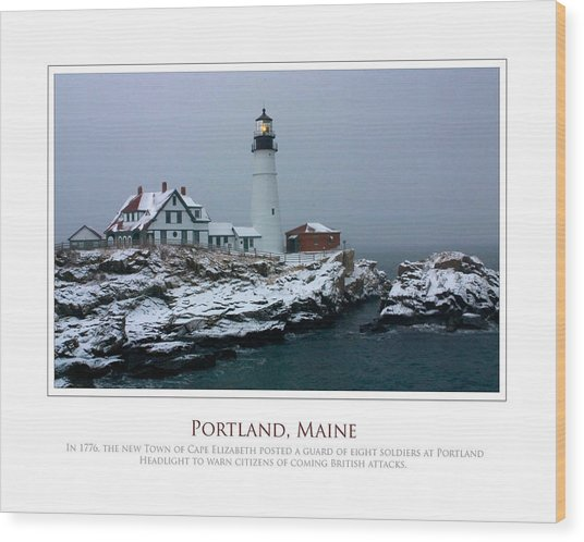 Portland Headlight Wood Print by Jim McDonald Photography